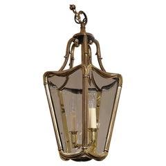 Edwardian Bronze Hall Lantern, circa 1910