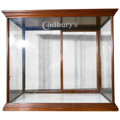 Edwardian Cadbury's Counter Top Sweet Shop Display Cabinet