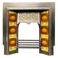 Edwardian Cast Iron Fireplace Insert