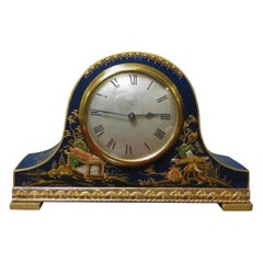 Edwardian Chinoiserie Decorated Mantel Clock, Mappin & Webb