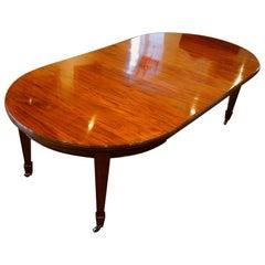 Edwardian circular mahogany dining table