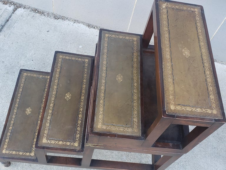 English Edwardian Convertible Library Steps For Sale