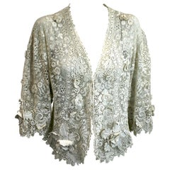 Edwardian Crochet Orchid Lace Bolero Jacket