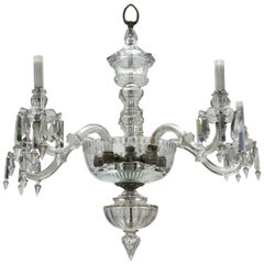 Edwardian Cut Glass Chandelier, Formerly a Gasolier