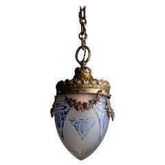 Edwardian Cut Glass Pendant, England circa 1910