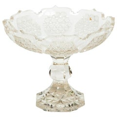 Edwardian Cut Glass Tazza