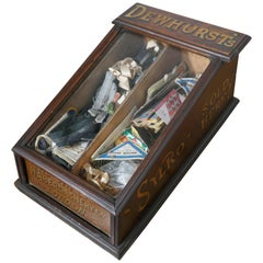 Edwardian Dewhurst's Sylko Counter Top Cotton Reel Display Case Cabinet
