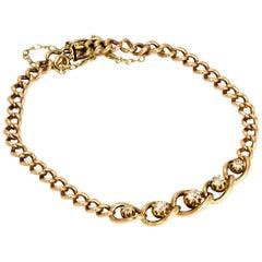 Edwardian Diamond 9 Carat Gold Bracelet