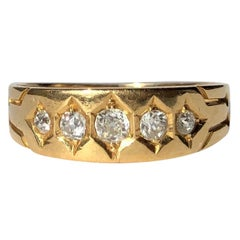 Edwardian Diamond and 18 Carat Gold Five-Stone Band