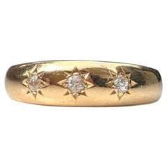 Edwardian Diamond and 18 Carat Gold Gypsy Ring