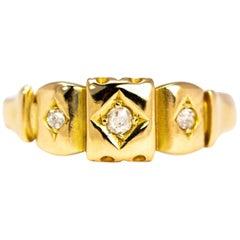 Edwardian Diamond and 18 Carat Gold Three-Stone Band