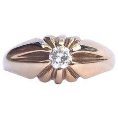Edwardian Diamond and 9 Carat Gold Band