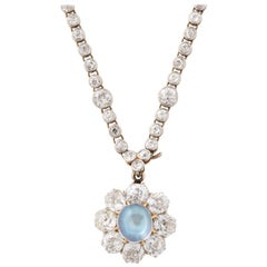 Edwardian Diamond and Moonstone Necklace