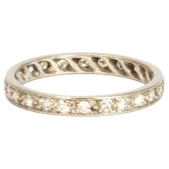 Edwardian Diamond and Platinum Eternity Band