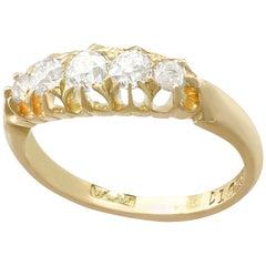 Edwardian Diamond and Yellow Gold 5-Stone Ring