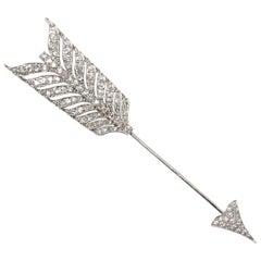 Edwardian Diamond Arrow Jabot Pin