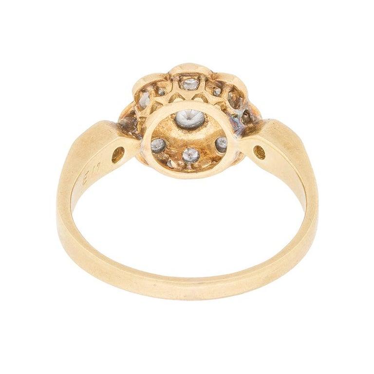 Women's or Men's Edwardian Diamond Cluster Ring, circa 1910