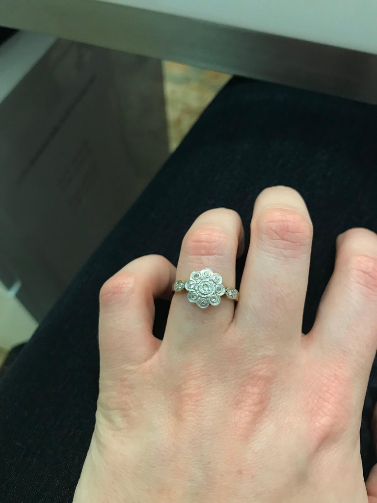 Edwardian Diamond Cluster Ring, circa 1910 1