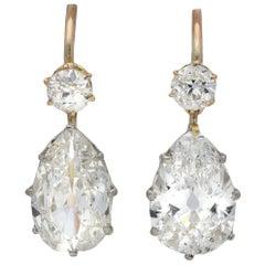 Edwardian Diamond Drop Earrings, circa 1915