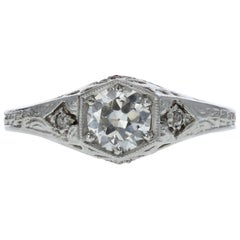 Edwardian Diamond Engagement Ring 'GIA Certified'