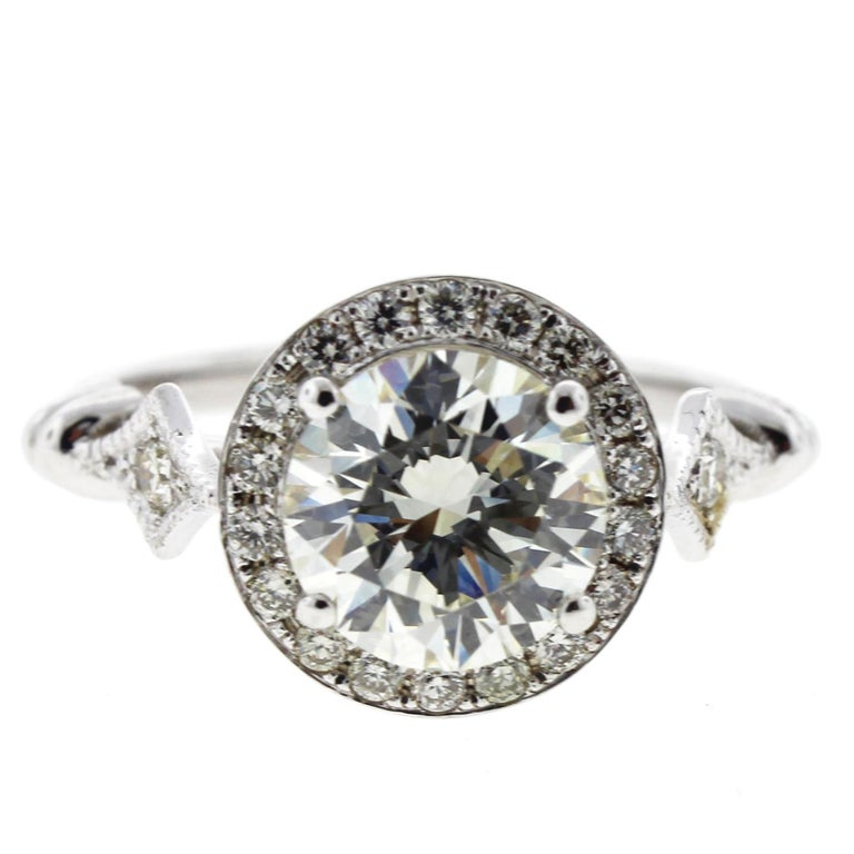 Edwardian Engagement Rings For Sale: Edwardian Diamond Engagement Ring 'Round' For Sale At 1stdibs