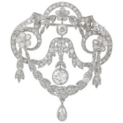Edwardian Diamond Festoon Brooch
