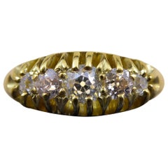 Edwardian Diamond Five-Stone Ring, 0.42 Carat