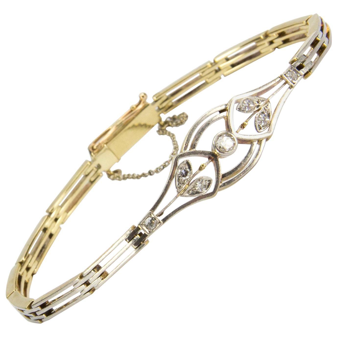 0c8b41b6f09 Birks of Canada Ram's Head Gold and Jade Bangle Bracelet at 1stdibs