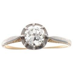 Edwardian Diamond Gold Platinum Ring