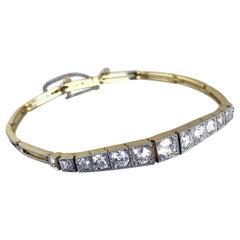 Edwardian Diamond Half Line Bracelet, circa 1910