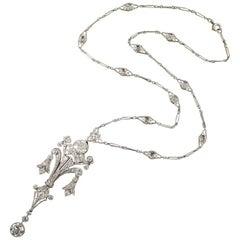 Edwardian Diamond Lavalière Necklace