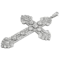 Edwardian Diamond Set Cross
