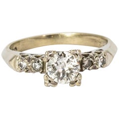 Certified 1960's Diamond Solitaire Ring