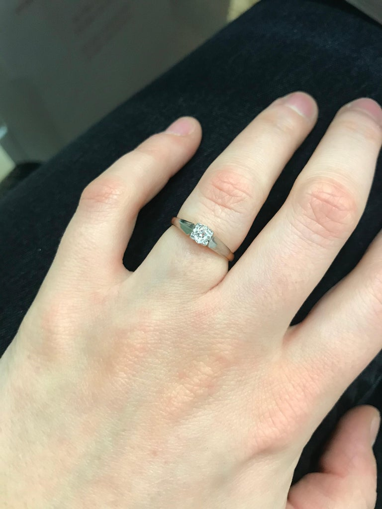 Edwardian Diamond Solitaire Engagement Ring, circa 1910 For Sale 1