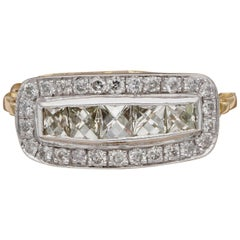 Edwardian Distinctive 1.60 Carat Diamond Five-Stone Anniversary Ring