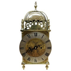 Edwardian Double Fusee Lantern Clock Attributed to Thwaites and Reed