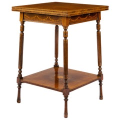 Edwardian, Edward and Roberts Fold over Swivel Top Occasional Table