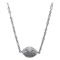 Edwardian Egg Diamond Pendant Necklace, Chavana Collection