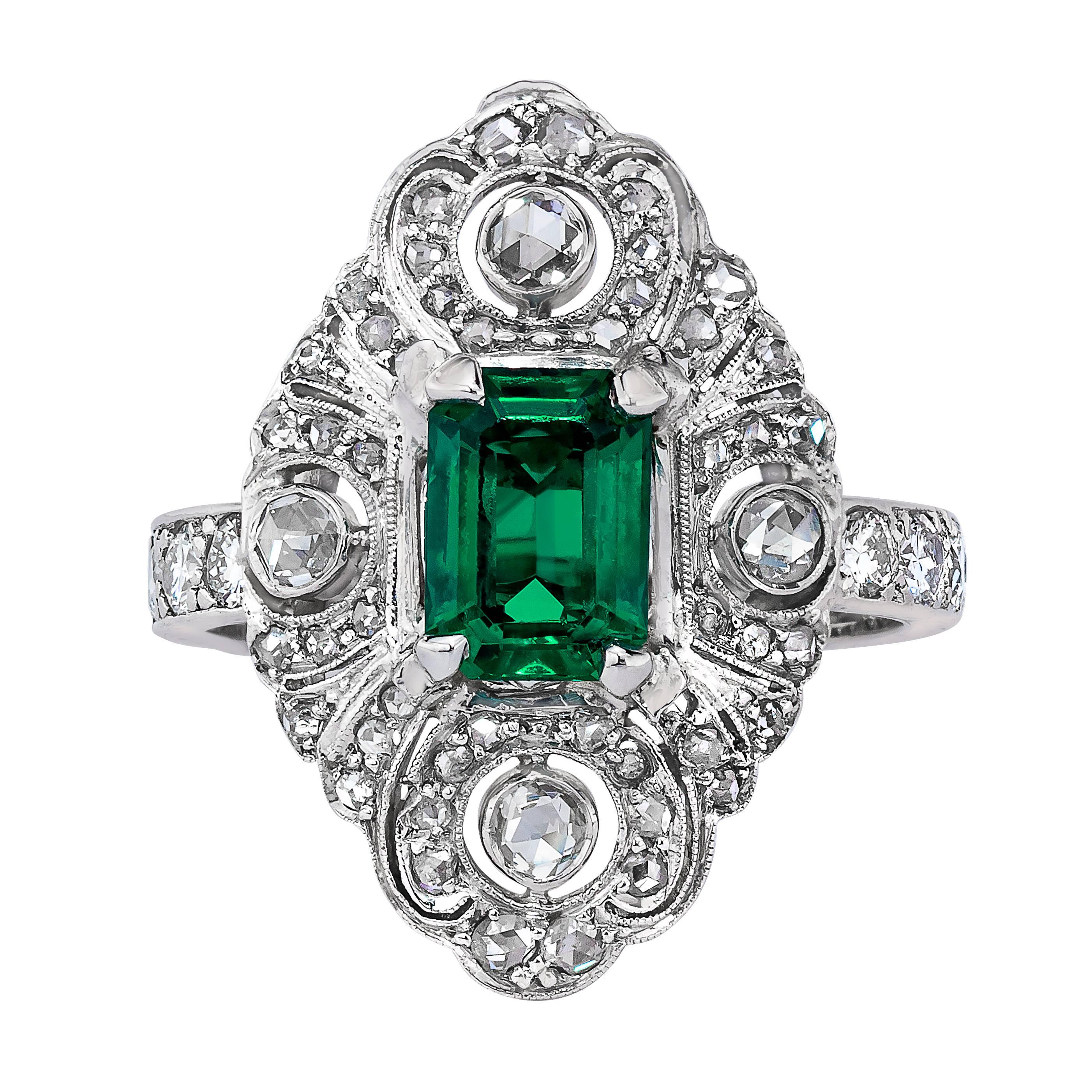 of and image esmeralda gemstone product cluster rings ring adorn emerald jewellers diamond emeral