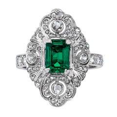 Mindi Mond Emerald Diamond Ring
