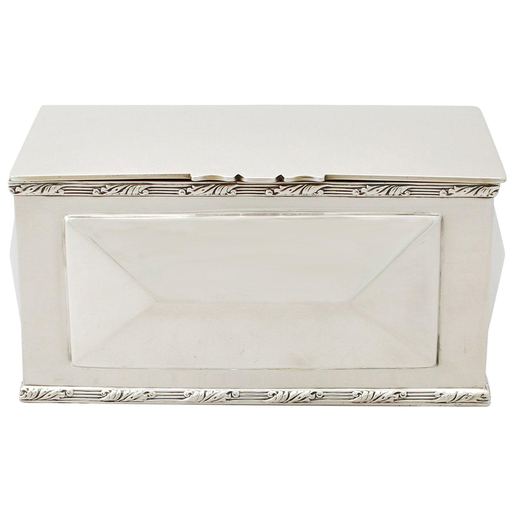 Edwardian English Sterling Silver Box