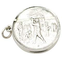 Edwardian English Sterling Silver Vesta Case