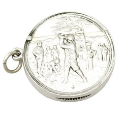 Edwardian English Sterling Silver Vesta Case