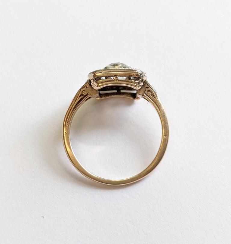 Edwardian Era Old Mine Cut Diamond Engagement Ring For Sale 2