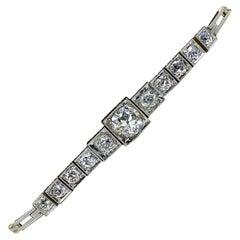 Edwardian Era Old Mine Diamond Bracelet 14 Karat Yellow White Gold 2.35 Carat