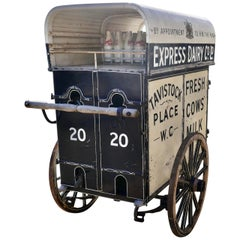 Edwardian Express Dairy Delivery Milk Cart