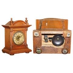 Edwardian F Ughans J Mantle Alarm Clock Oak Framed for Restoration