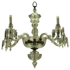 Edwardian Finely Cut Glass Chandelier
