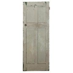 Edwardian Four Panel Interior Pine Door, 20th Century