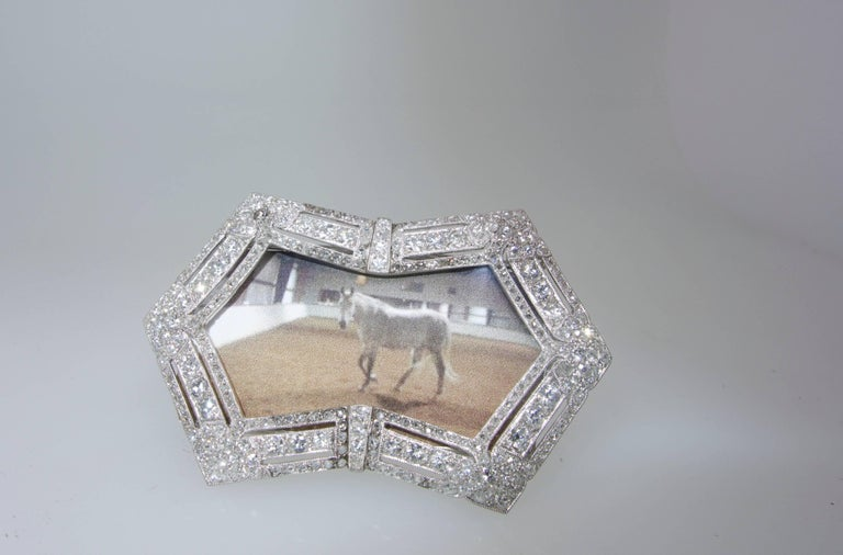 Edwardian French Diamond Platinum Picture Frame, circa 1915 For Sale 1